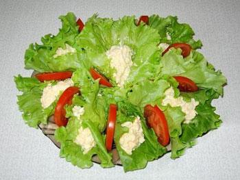 фпанцузский салат раффине с сыром