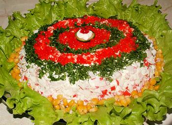 салат рапсодия из крабовых палочек