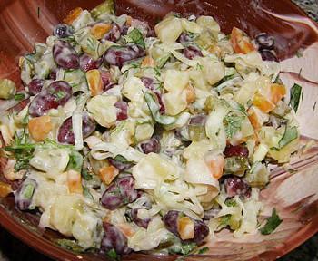 салат французский с фасолью