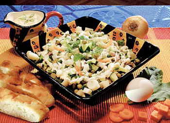 салат из свинины и корейской моркови