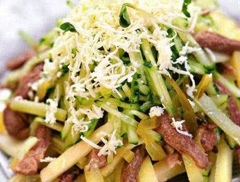 салат из говяжьего языка и сельдерея