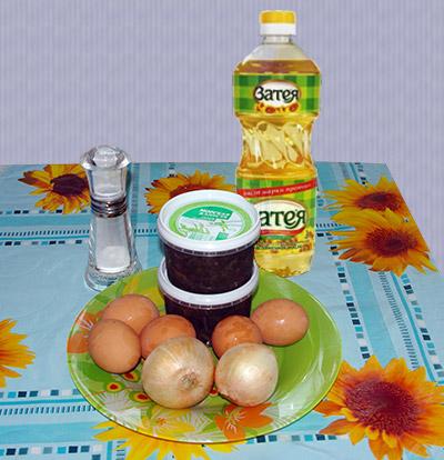 салат из морской капусты, лука и яйца, диетический салат