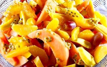 салат фруктовый манго и дыня