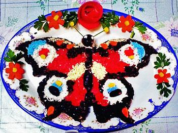 салат бабочка праздничный