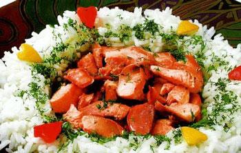 салат из палтуса и риса