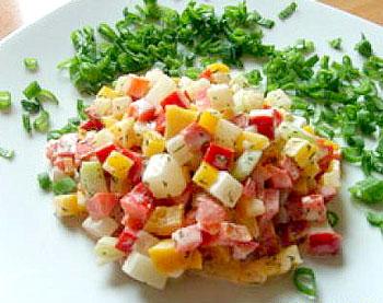 салат из кольраби и перца