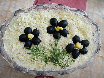 салат юбилейный из мяса