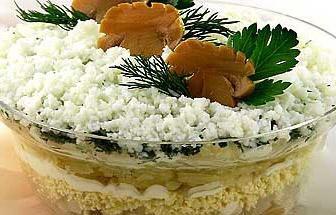 салат из картошки с грибами на скорую руку