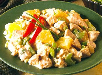 салат из индейки с ананасом и сельдереем