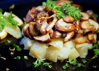 рецепт салата с лесными грибами, постный