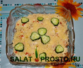 салат осень с грибами пошаговый
