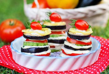 пирамидки из осенних овощей