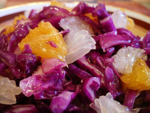 салат из краснокочанной капусты и болгарского перца, закатка на зиму