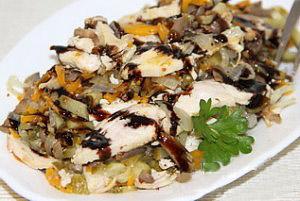 салат из курицы и тыквы осенний поцелуй