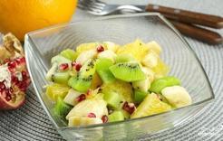 салат фруктовый из киви и апельсин