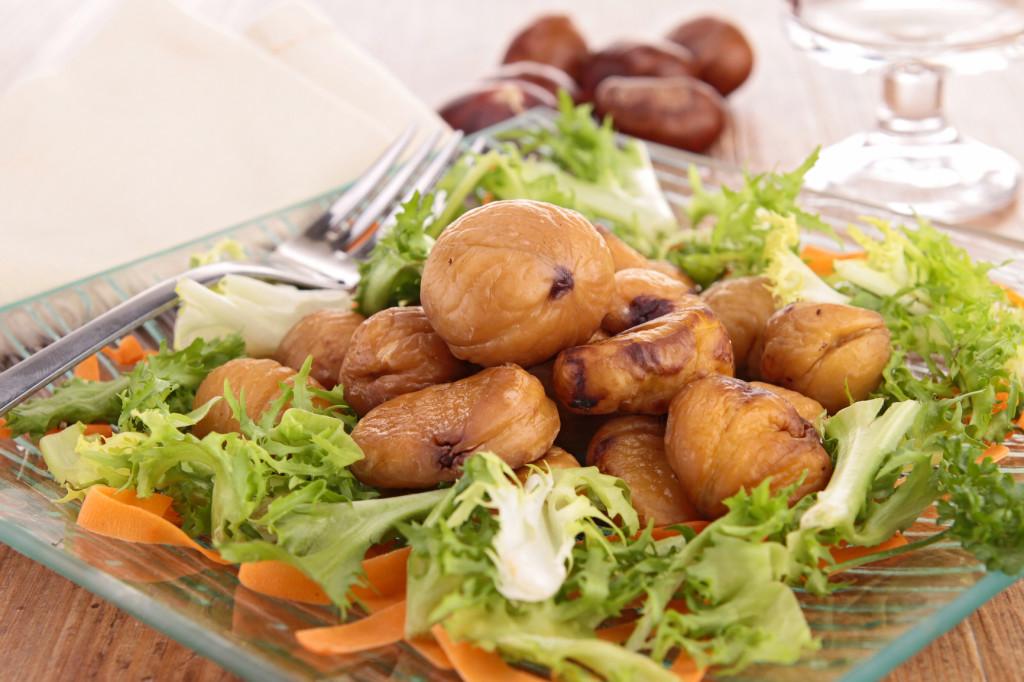 салат из каштанов
