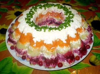 салат зимний овощной со свеклой