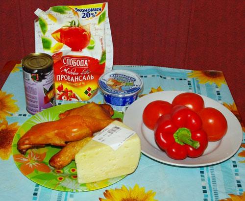 новогодний салат елочка из копченой курицы
