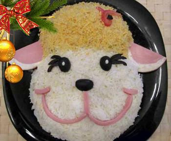 салат овечка на новый год