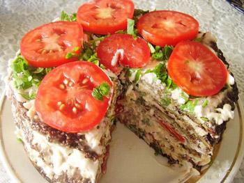 торт салат из кабачков