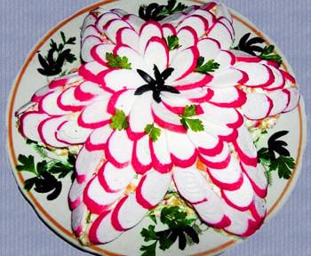 салат крабовая звезда из крабовых палочек и риса