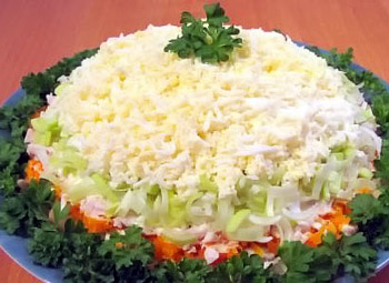 салат на каждый день, курица, грибы, картофель, морковь, яйца, майонез