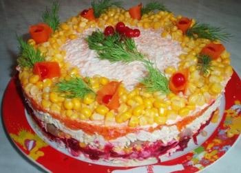 салат татьяна из куриного филе и шампиньонов