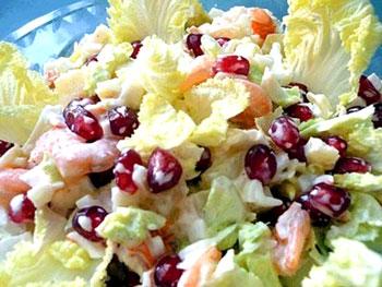 салат стрелы амура из капусты и креветок