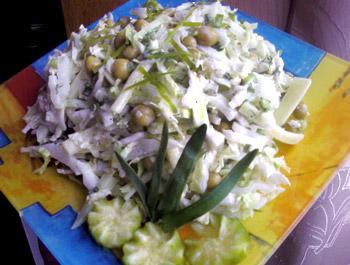 салат из капусты легкий разгрузочный