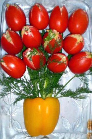 салат букет тюльпанов