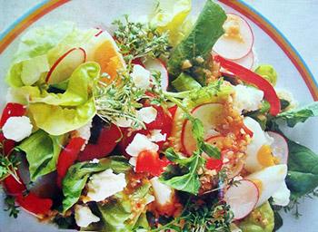 салат летний из овощей с брынзой