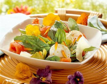 летний салат из семги и авокадо