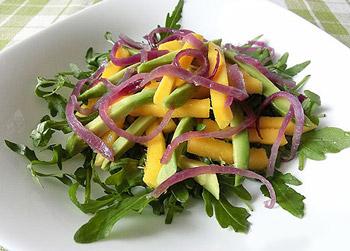 салат из манго и авокадо