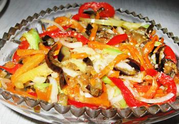 салат овощной осенний