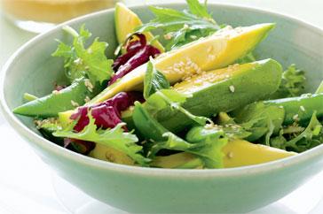 экзотический салат из авокадо