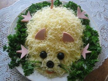 салат детский мышка