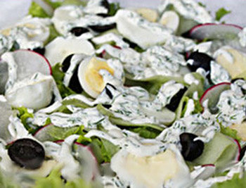 салат легкий из редиса и яйца