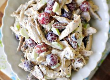 необычный салат из куицы