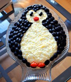 Салат Пингвин на новый год