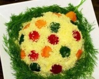 салат новогодняя игрушка