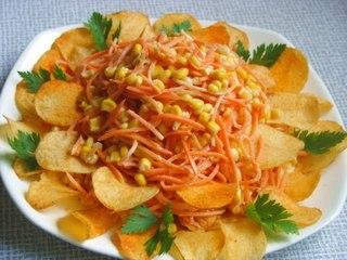 салат с чипсами