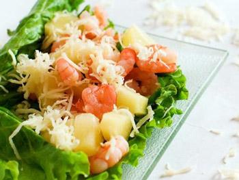 креветки с ананасами салат