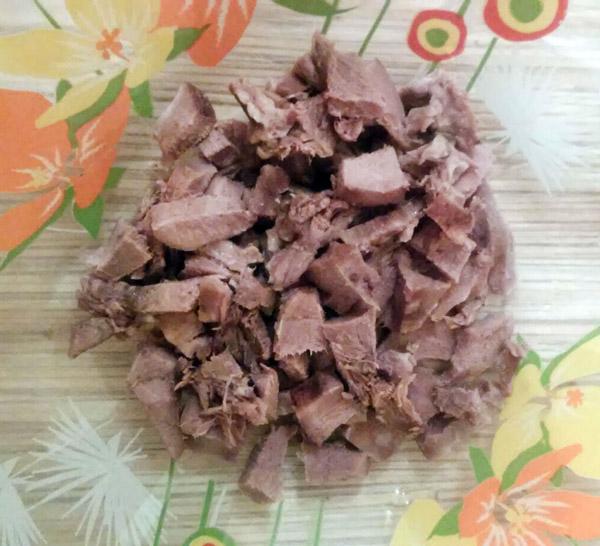 пошаговый рецепт салата из языка, огурца и яиц
