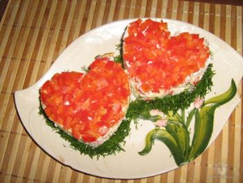 салат валентинка