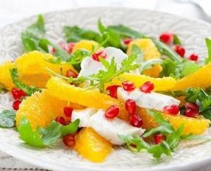 салат из апельсинов с сыром