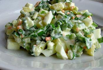 салат весенний витаминный