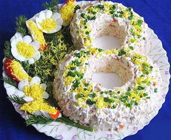 салат праздничный к 8 марта