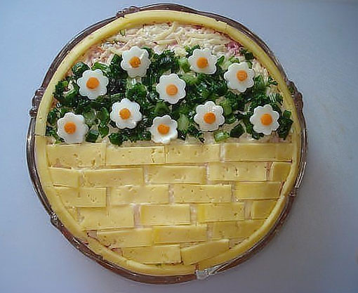 салат весенняя корзинка к 8 марта