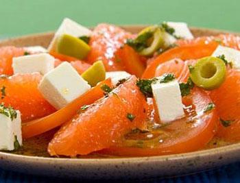 салат из грейпфрута и сыра