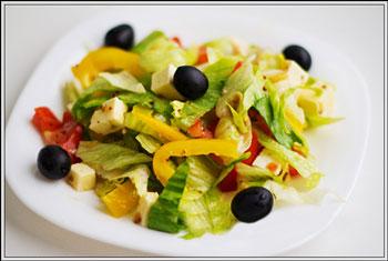 салат осенний с брынзой